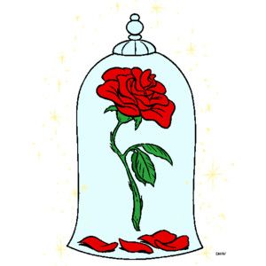 Beauty beast dome for. Belle clipart rose