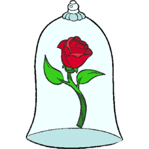 Clipart rose dome. Beauty and the beast