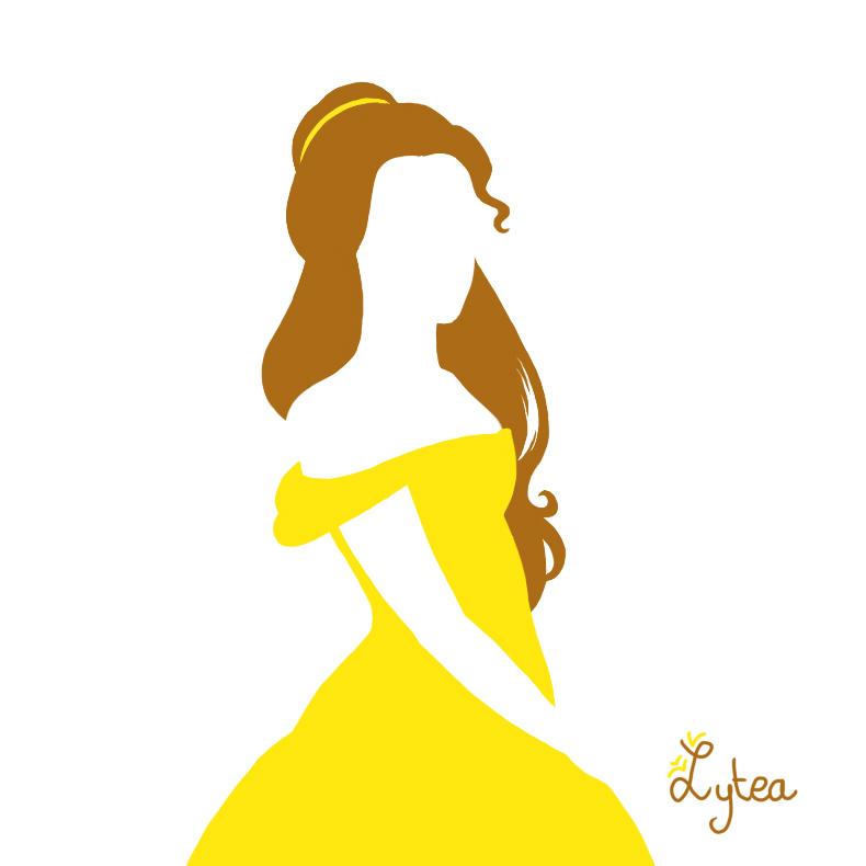 Disney princess clip art. Belle clipart silhouette