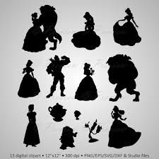 Belle clipart silhouette.  beauty and the