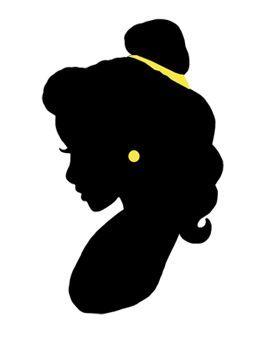 Belle clipart silhouette. By princessluver deviantart com