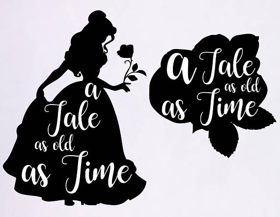 Tale as old time. Belle clipart silhouette