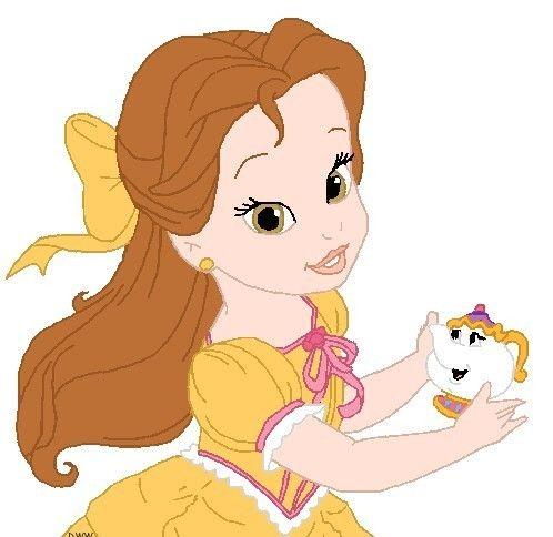 Disney babies clip art. Belle clipart toddler