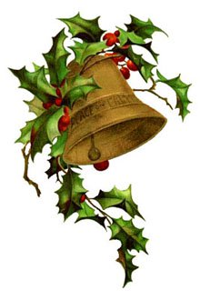 Bells clipart bell instrument. Free vintage christmas holly