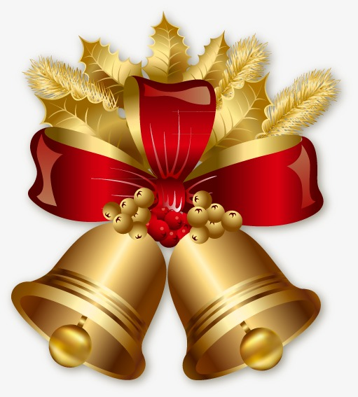 Christmas golden png and. Bells clipart bell instrument