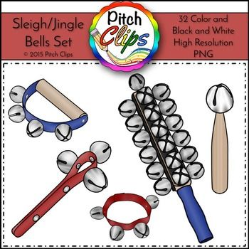 Sleigh and jingle clip. Bells clipart bell instrument