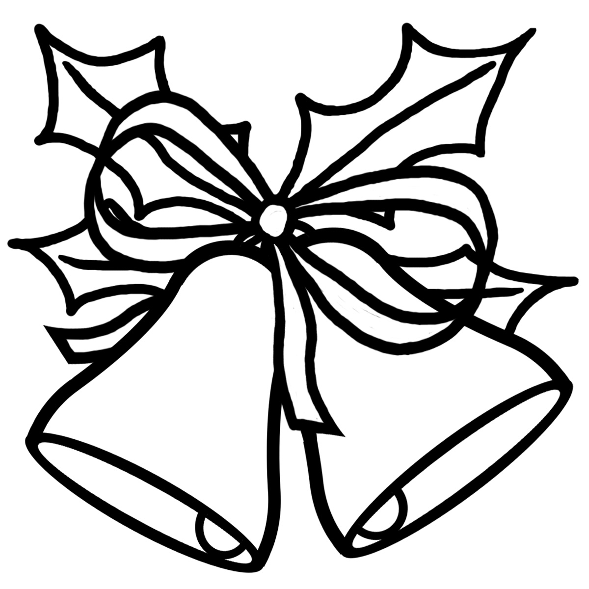 Bells clipart black and white. Free christmas download clip
