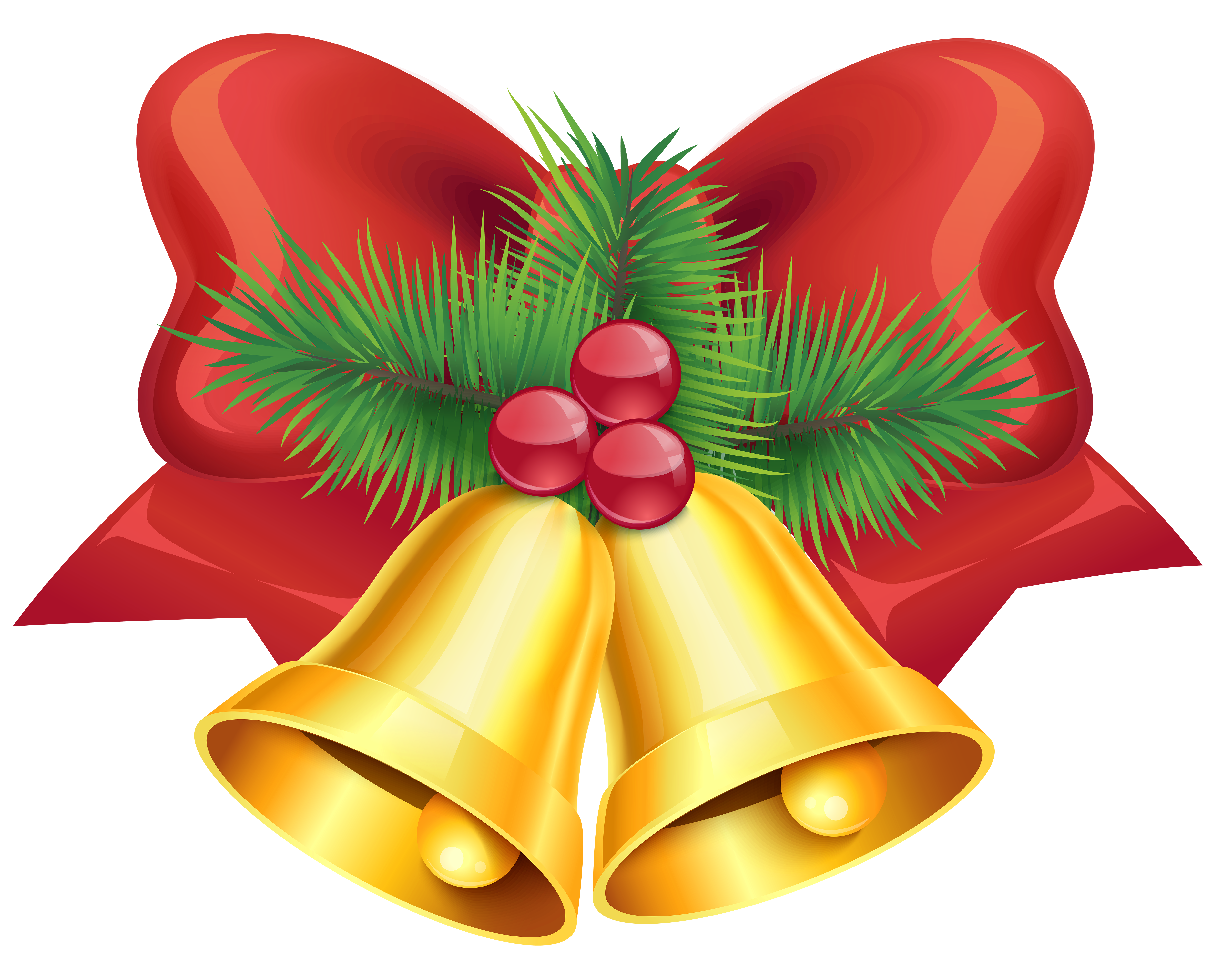 Christmas Bells with Bow PNG Clipart Image | Gallery Yopriceville -  High-Quality Images and Transparent PNG Free Clipart