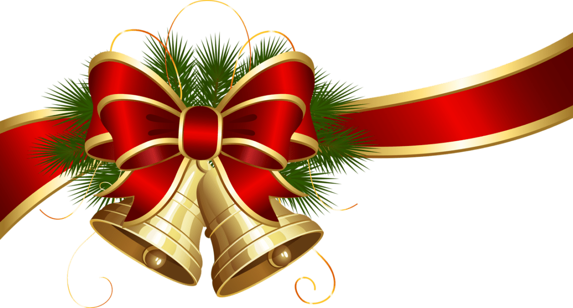 Ornaments clipart bow clipart. Transparent christmas bells with
