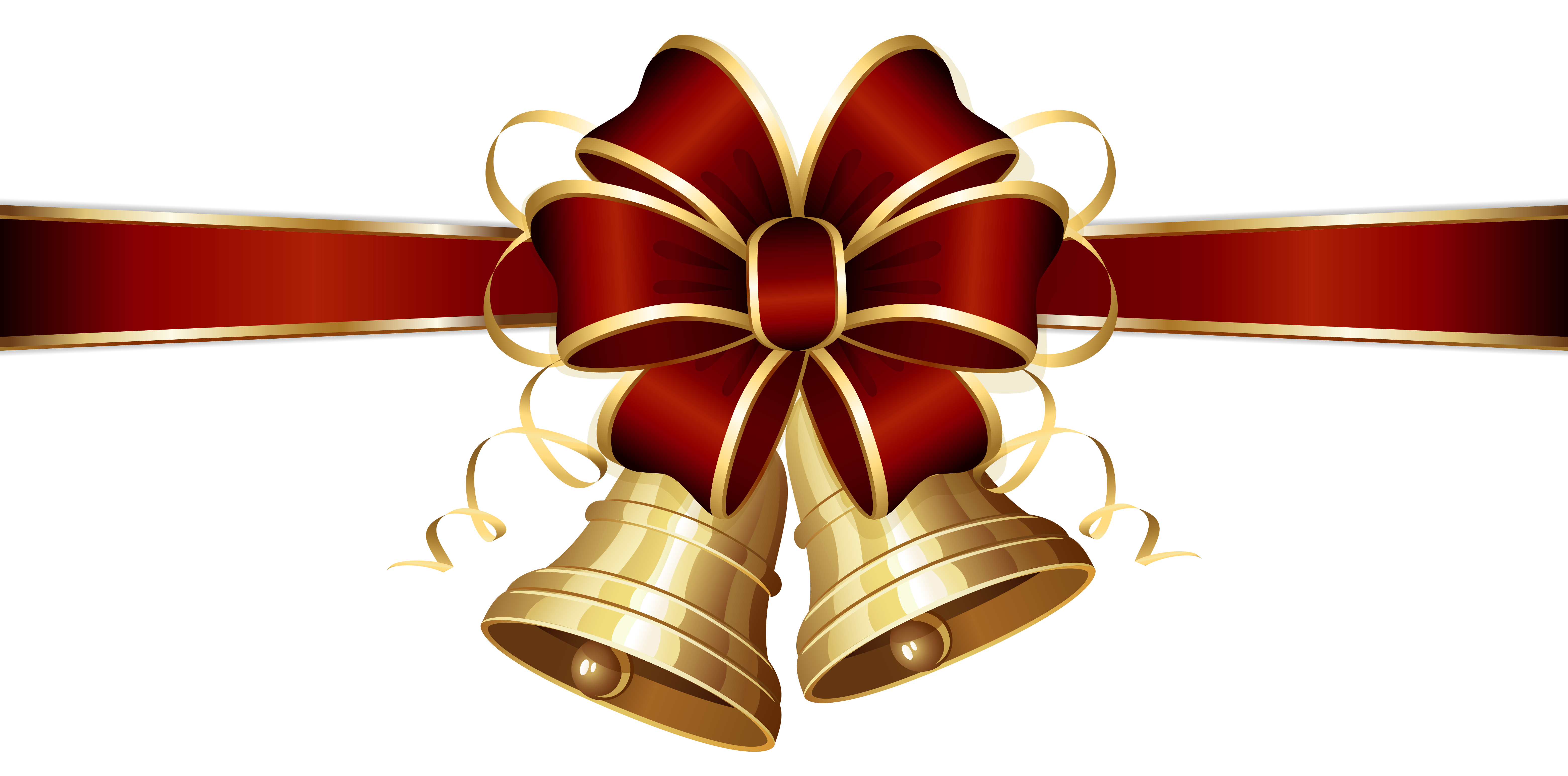 Christmas bells and red. Holly clipart bell