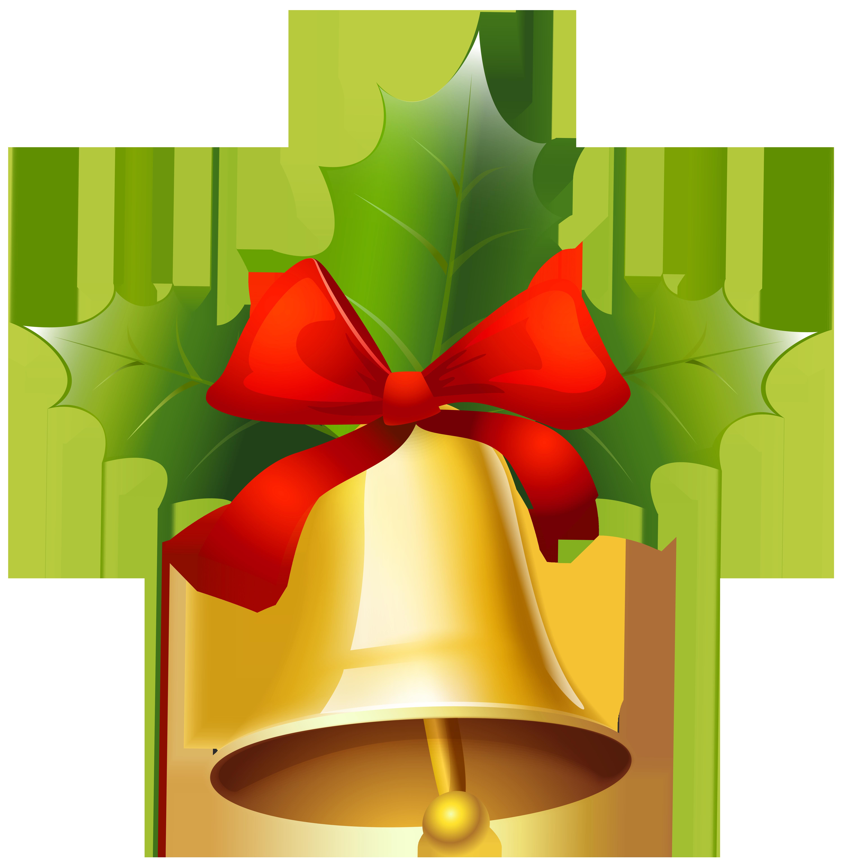 Golden christmas bell png. Clipart reindeer bells