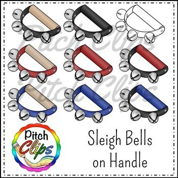 Sleigh and jingle commercial. Bells clipart clip art