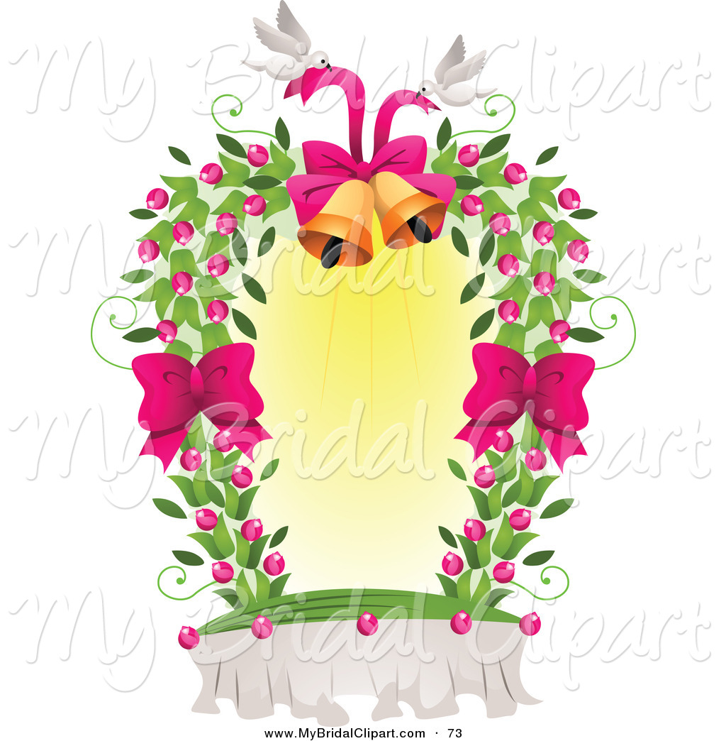 Bridal of a white. Bells clipart design