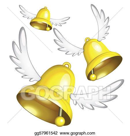 Bells clipart easter. Eps vector flying stock