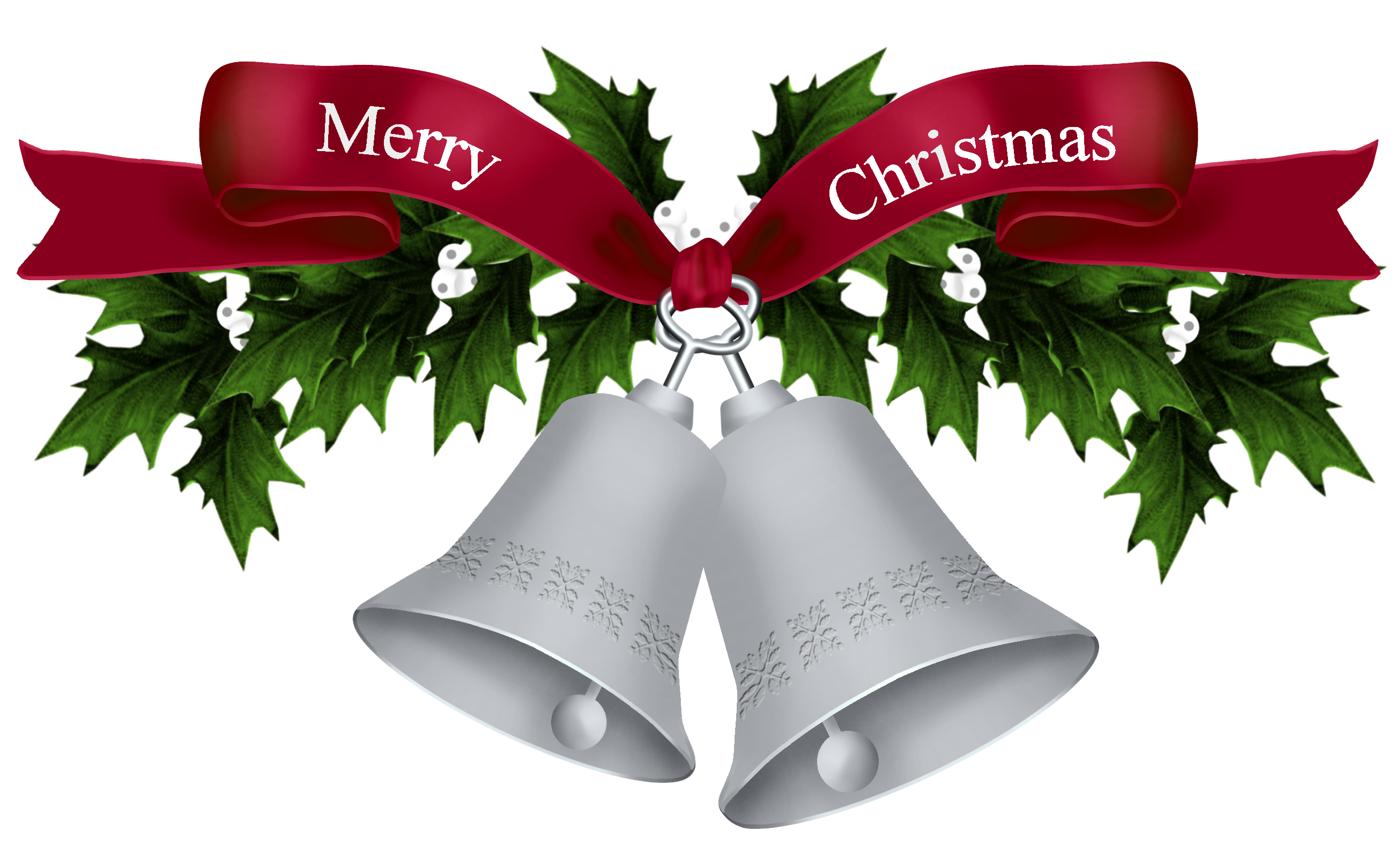 Clipart christmas silver. Bells png picture gallery