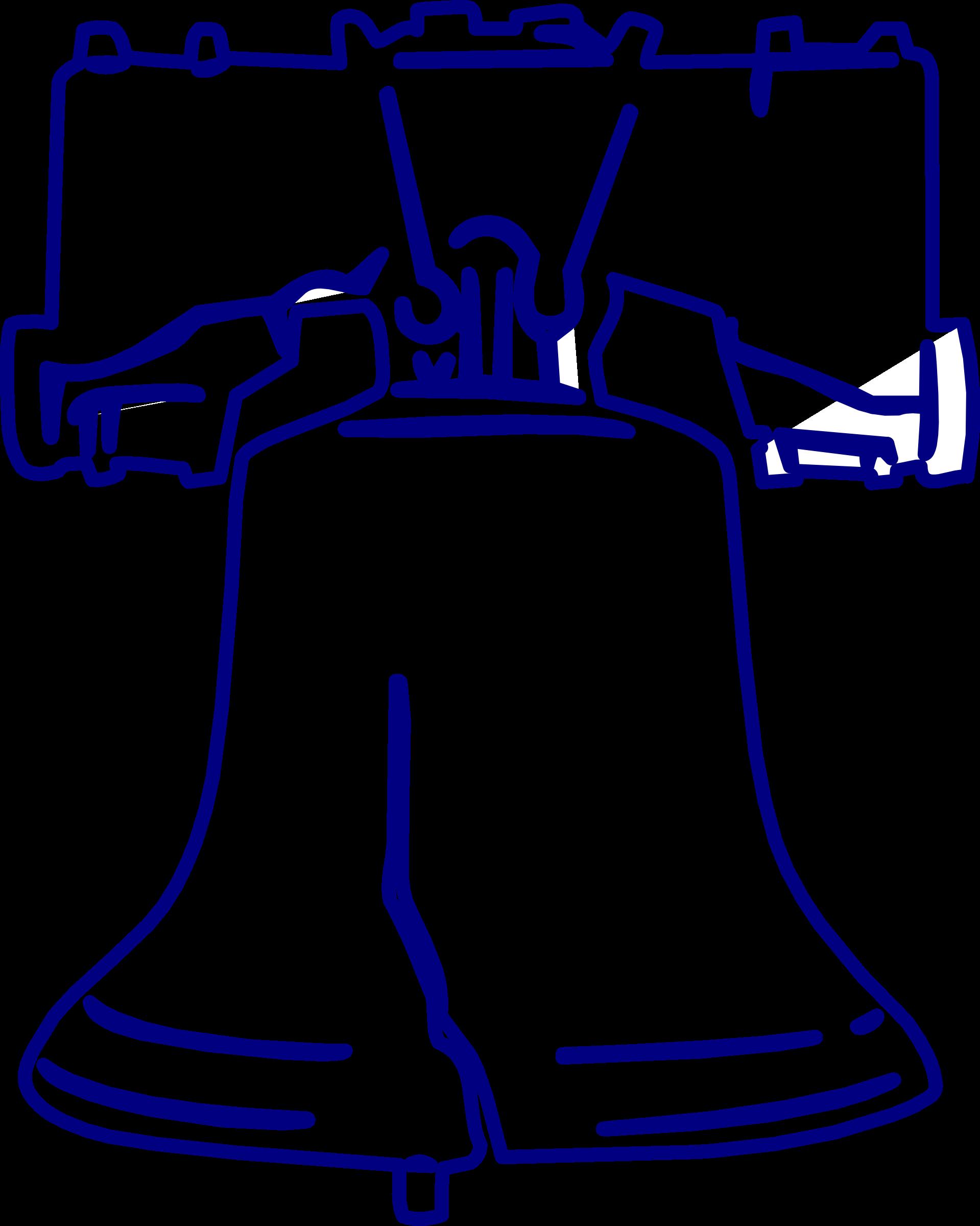 Liberty bell big image. Bells clipart sketches