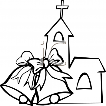 Bells clipart sketches. Wedding bell drawing at