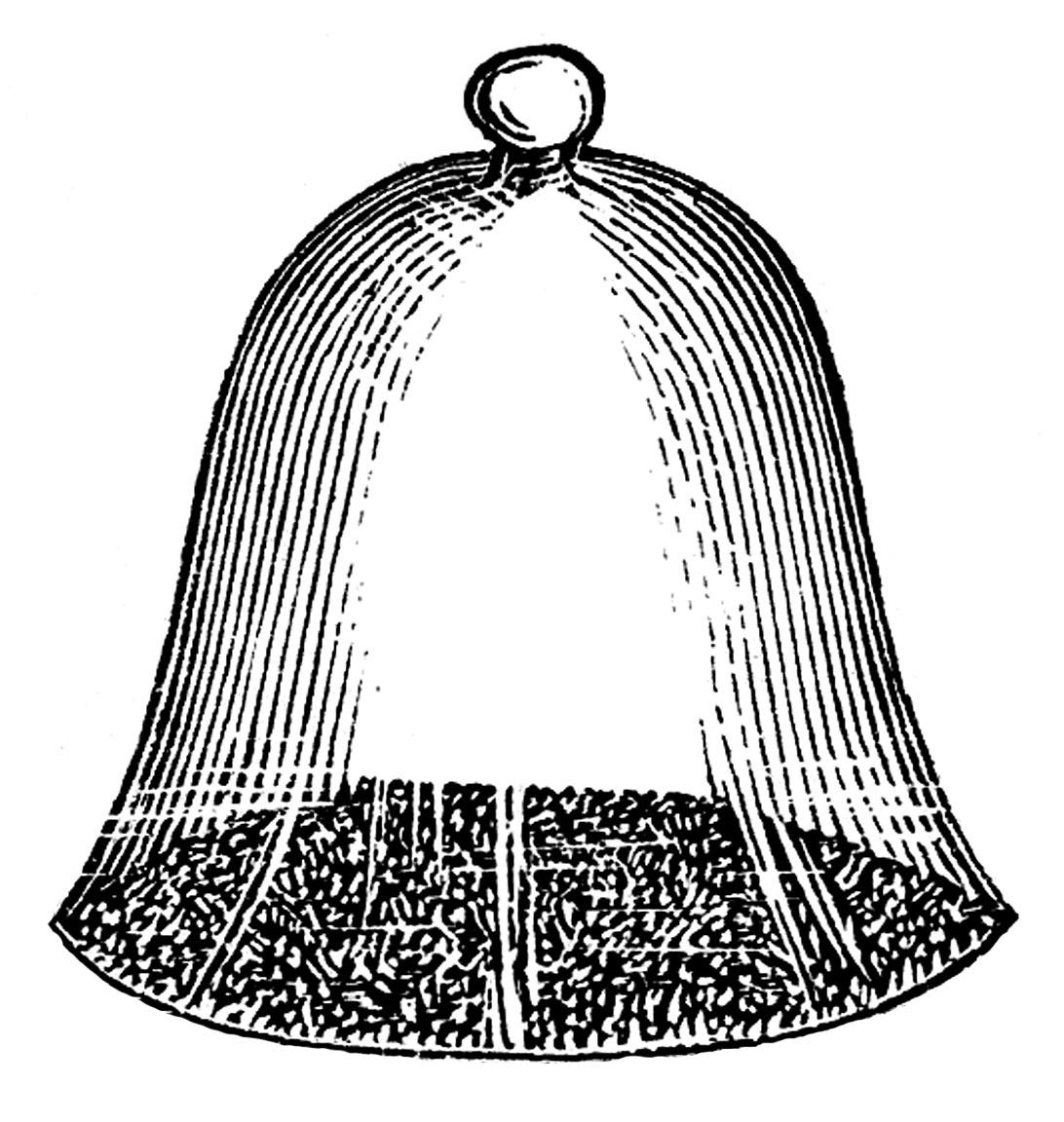 Bells clipart sketches. Vintage garden clip art