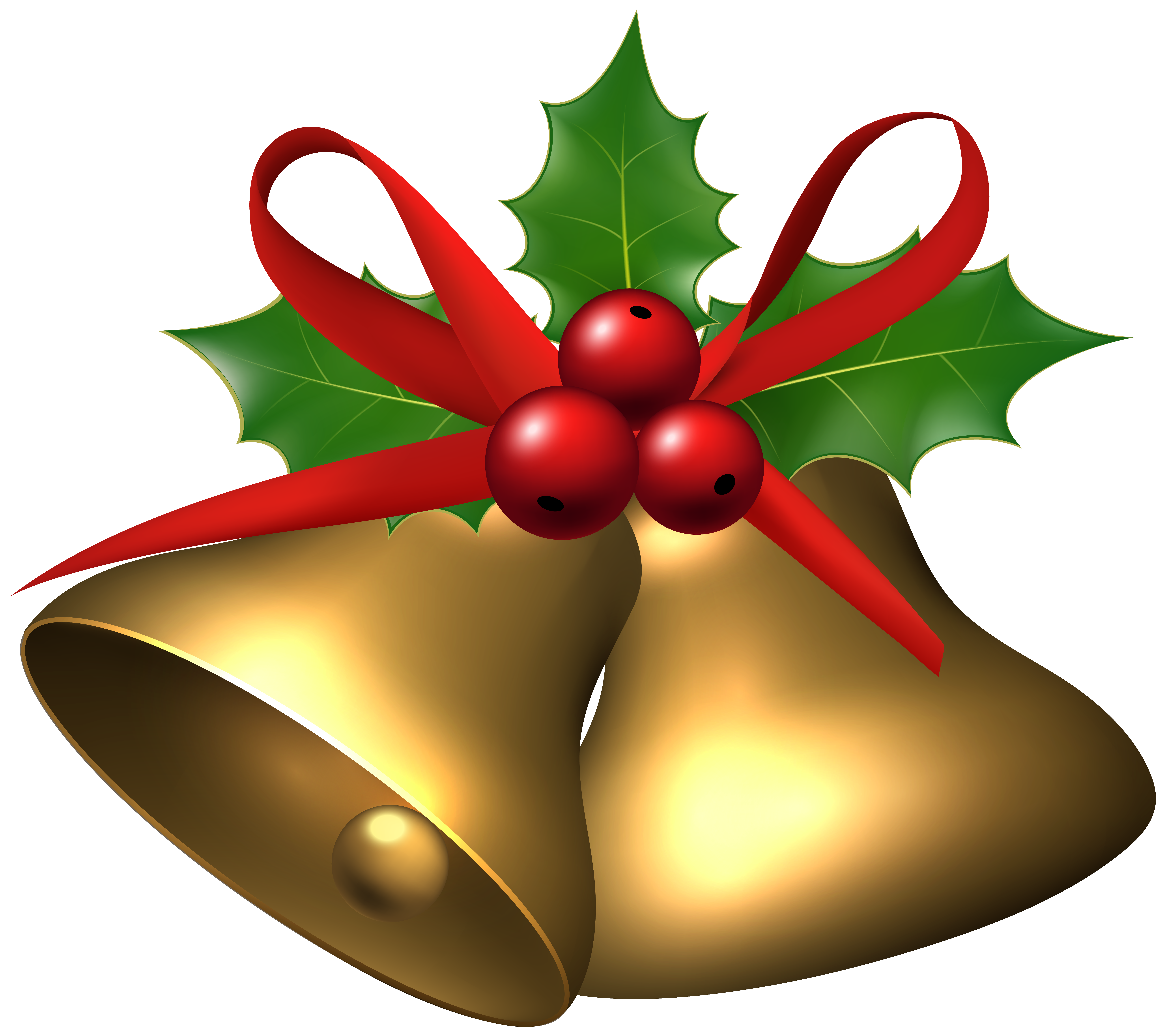 Large christmas bells with. Ornament clipart bell