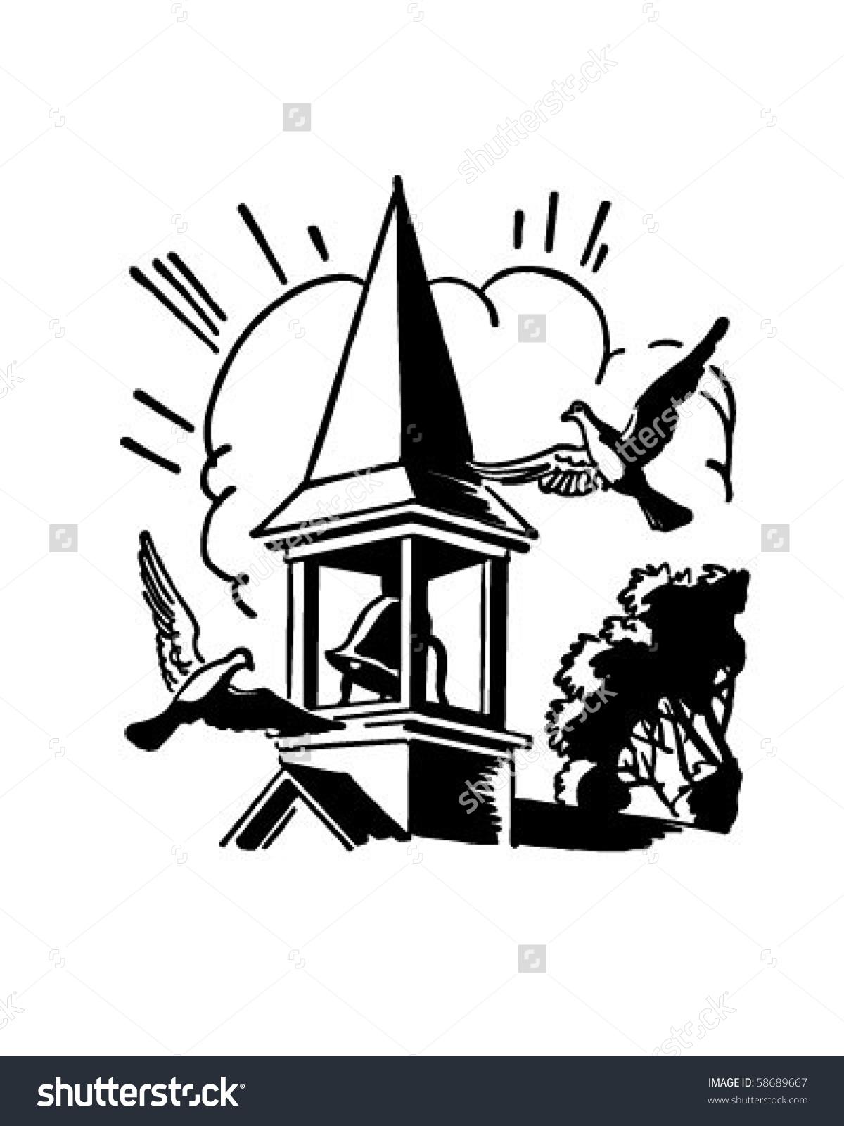 Bells clipart vector. Ringing church bell paberish