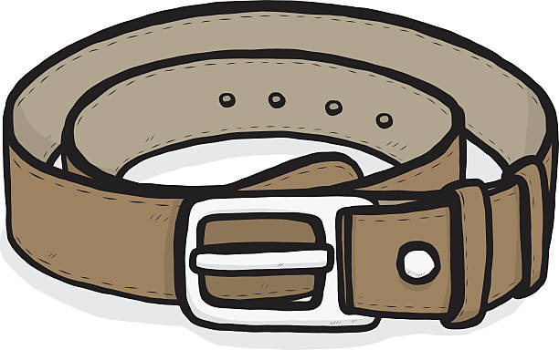 Royalty free leather clip. Belt clipart