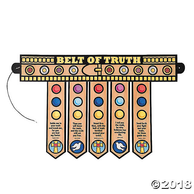 Belt clipart belt truth. Color your own armor