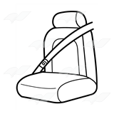 Seat cilpart exciting abeka. Belt clipart black and white