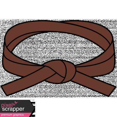 Belt clipart brown belt. Karate illustration graphic by