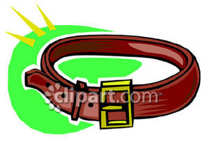 Buckled leather royalty free. Belt clipart brown belt