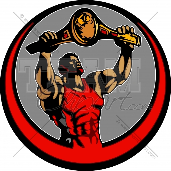 Wrestlers clipart wrestling champion. Wrestler holding up victory