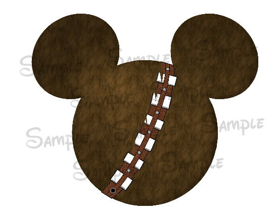 Inspired digital printable mickey. Belt clipart chewbacca