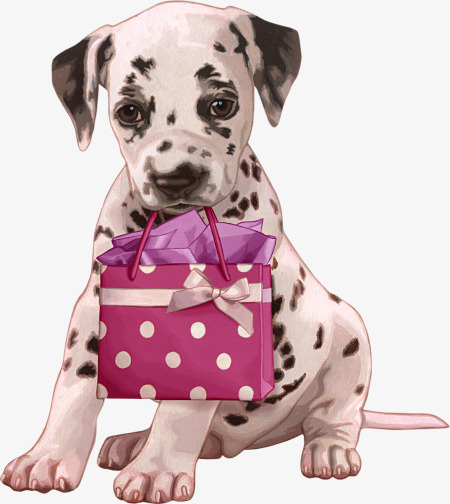 Belt clipart dog. A with gift spotted