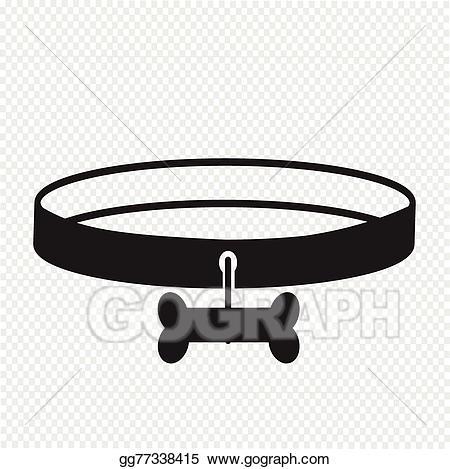 Belt clipart dog. Vector art collar icon