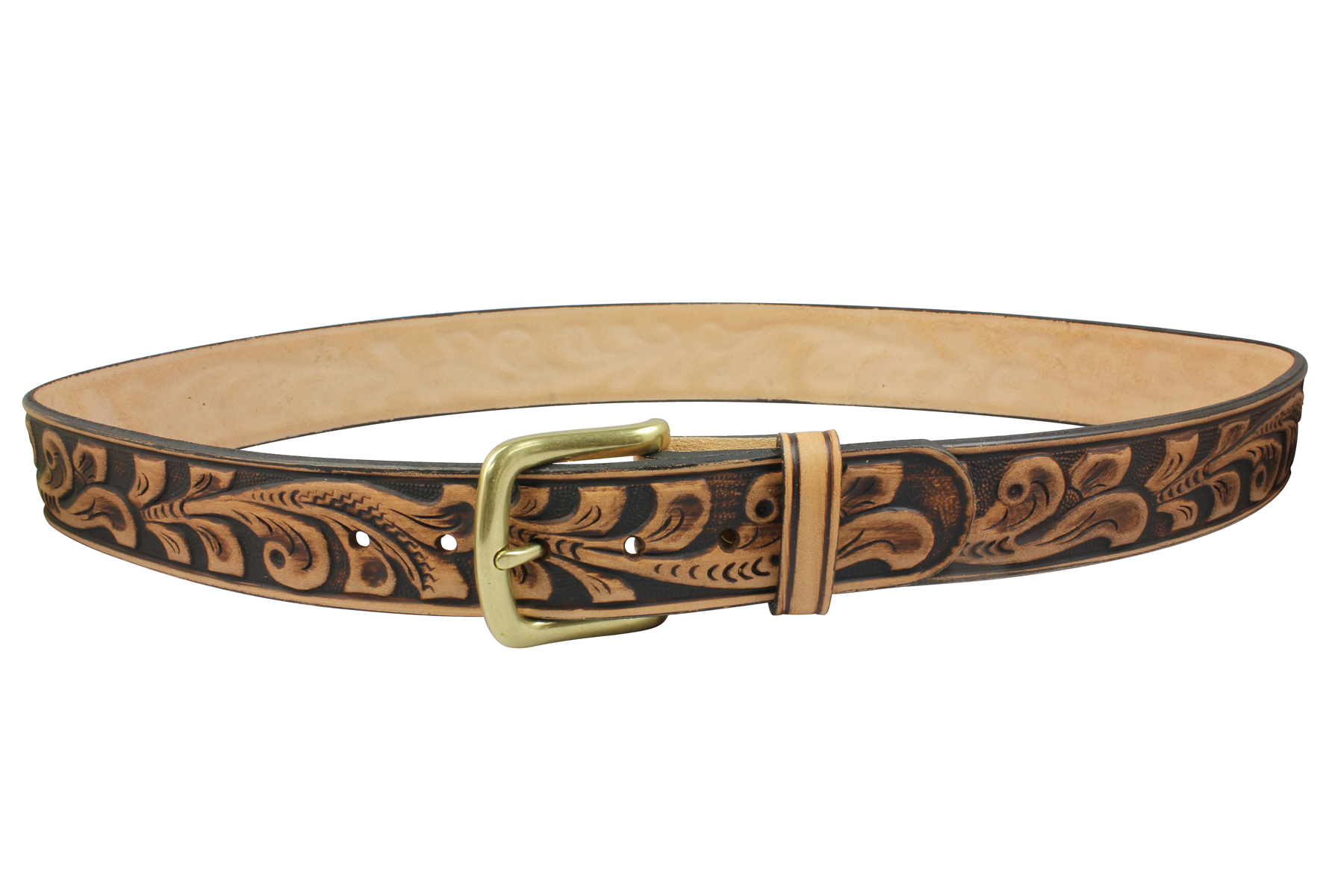 Belt clipart dog. Embossed leather oakleaf pattern