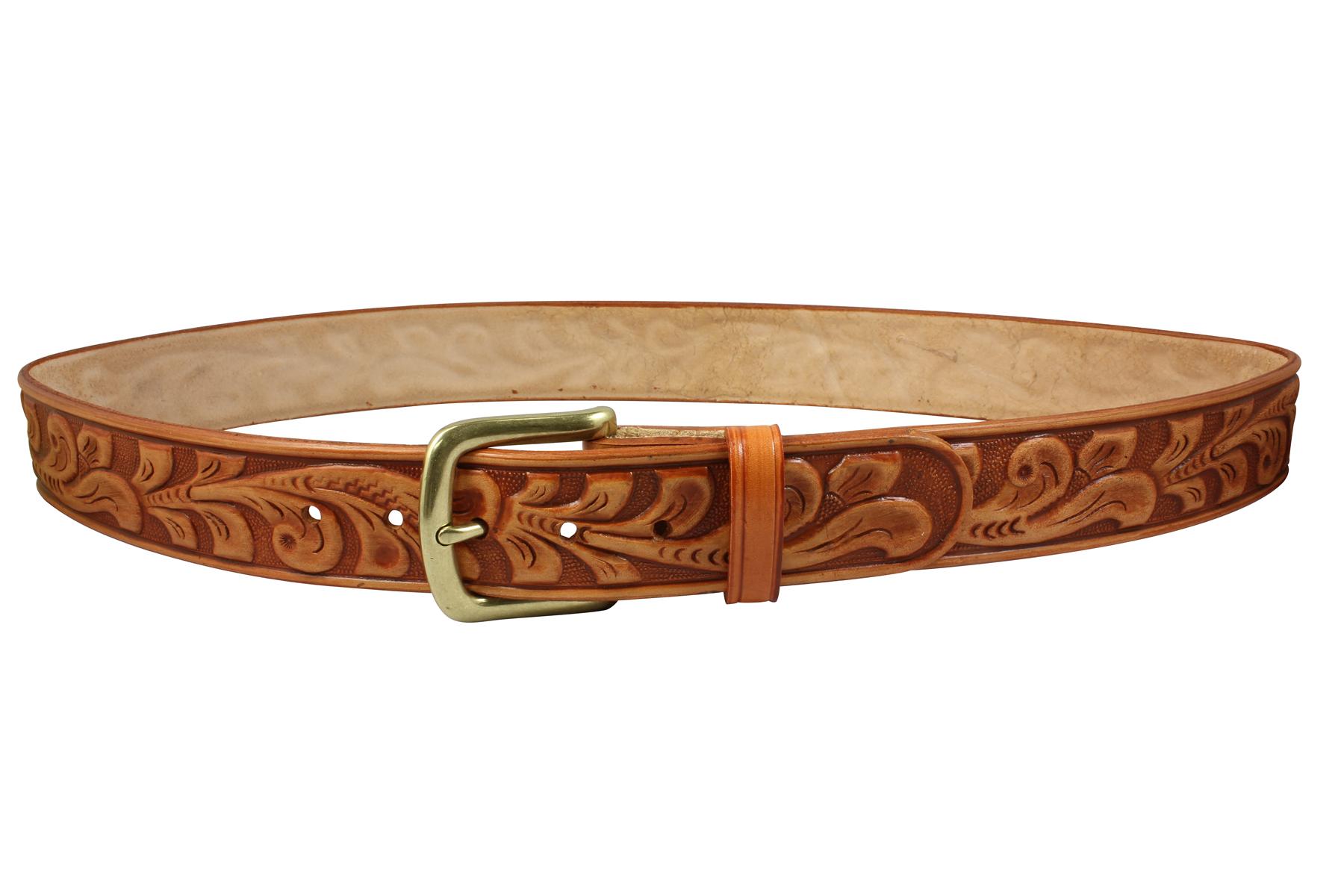 Embossed leather oakleaf pattern. Belt clipart dog