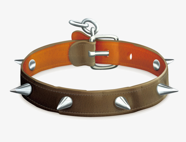 Chain clipart dog. Leather belt spike png