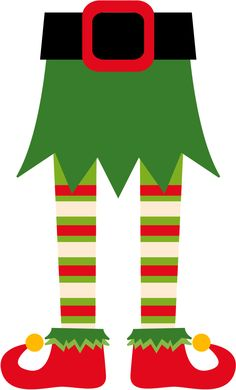 Printable shoes d costumes. Body clipart elf