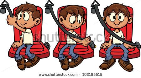 Fasten clipground safety. Belt clipart illustration