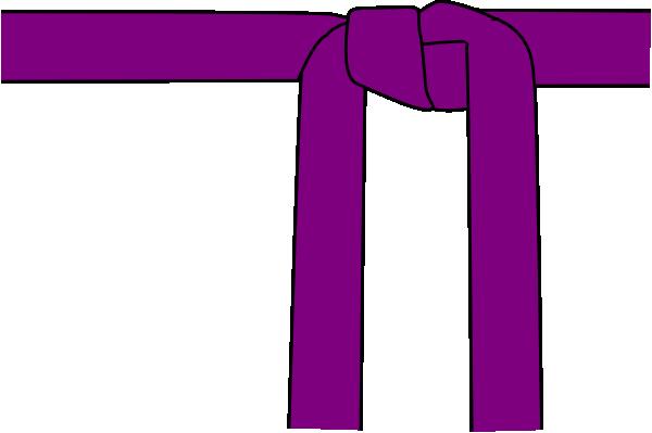 Purple clip art at. Belt clipart karate