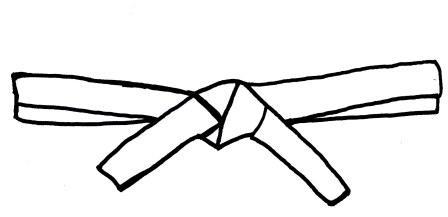 Sandi pointe virtual library. Belt clipart karate