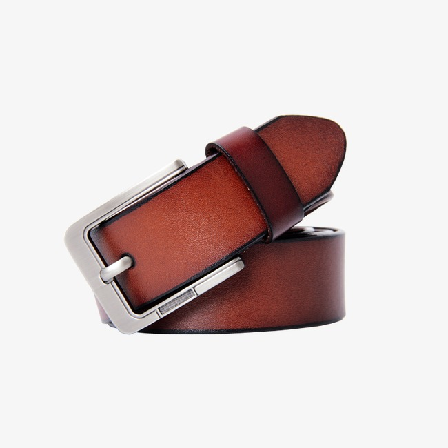 Belt clipart leather product. Kind brown png image