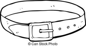 Black and white station. Belt clipart long belt