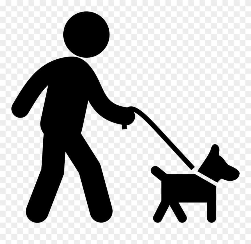 Dog with walking a. Belt clipart man png