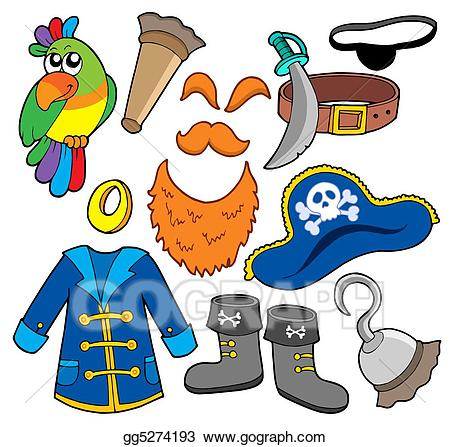 Buy clipart cheap clothes. Stock illustration pirate collection