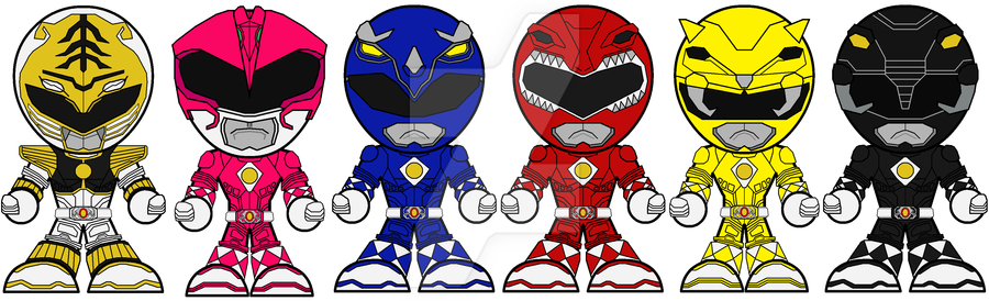 Chibi mighty morphing rangers. Belt clipart power ranger