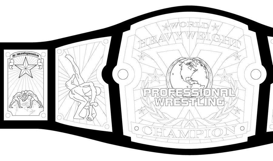 Belt clipart pro wrestling. Pin by oli kidsley