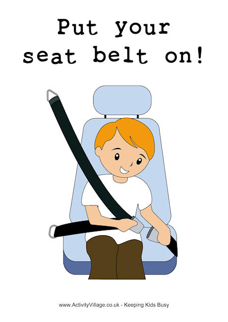 Put your seat on. Belt clipart safety belt