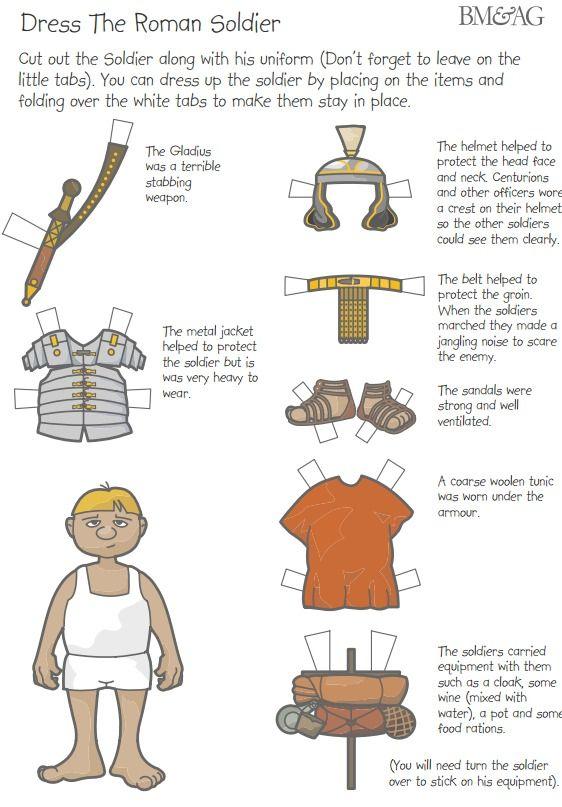 Belt clipart soldier roman. Dress the pdf download
