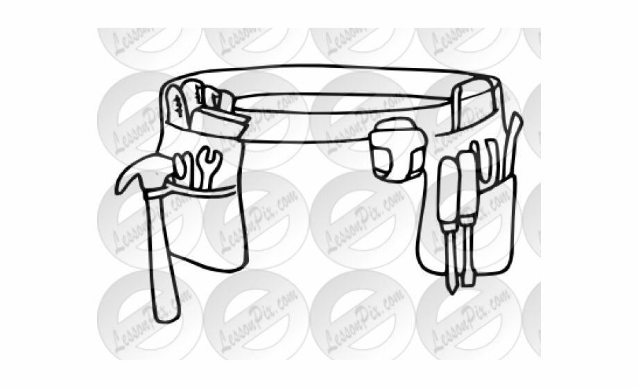 Cliparts black and white. Belt clipart tool
