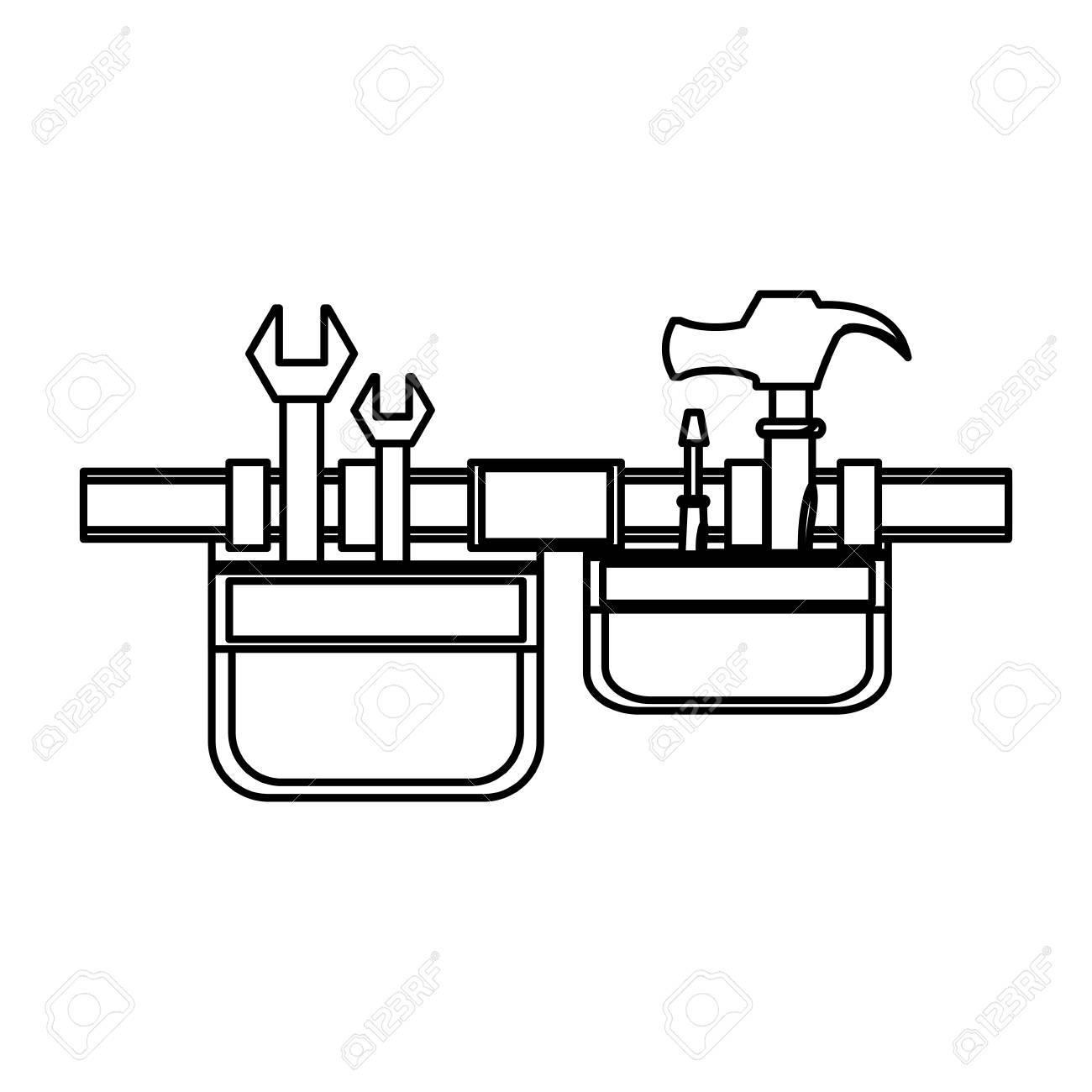 Tool illustration portal . Belt clipart vector